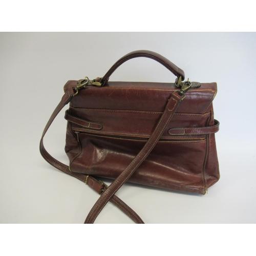 14 - Texier ladies French tan leather handbag