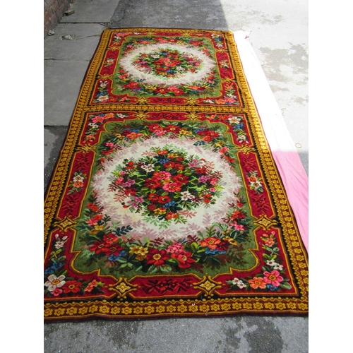 37 - Three Burmese threadwork and sequin wall hangings together with a large chenille wall hanging