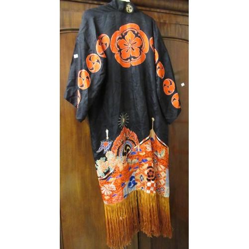 44 - Chinese printed on silk kimono