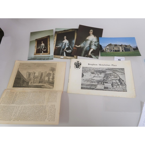 46 - 18th Century document printed in old English, recounting the history etc of Boughton Monchelsea Plac...