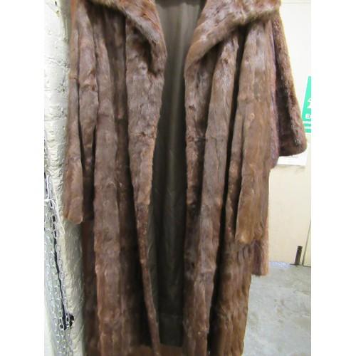 40B - Ladies three quarter length fur coat (at fault)