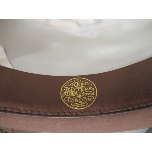 37 - Gentleman's Lock and Co. St. James's Trilby hat, size 7 and 3/8th's in original box...