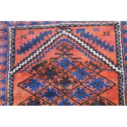 18 - Small Afghan prayer rug, 3ft 8ins x 2ft 8ins approximately