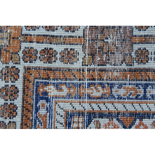 30 - Qashqai rug of central floral medallion and all-over floral design with border, approximately 80ins ...