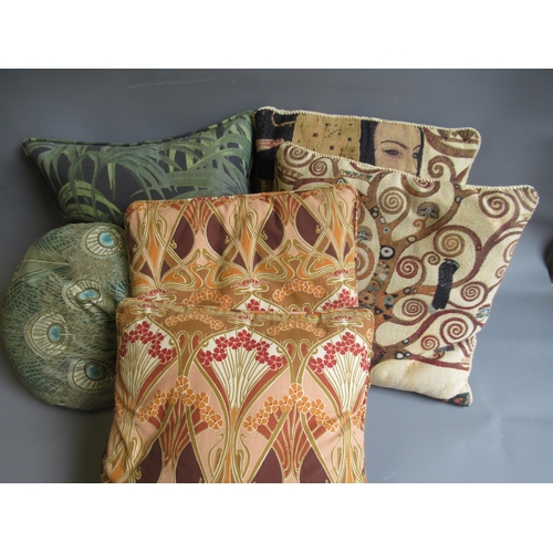 39 - Group of six various cushions, including Hera Klimpt and House of Hackney etc