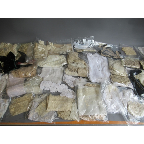 40A - Large quantity of various of lace and embroidered trimmings and other textiles