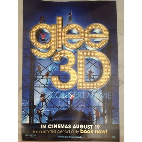 11 - Glee 3D 2011 concert movie poster. Double sided printing suitable for lightbox display. Approx 40x30...
