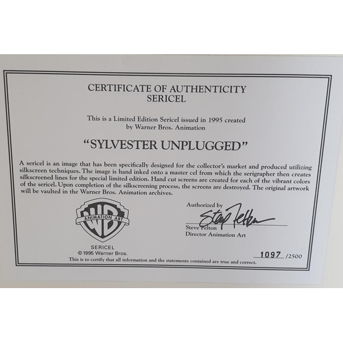 21 - Sylvester Unplugged Sericel Limited Edition Number 1097 of 2500. The Certificate of Authenticity des...