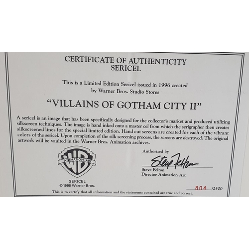 24 - Villains of Gotham City 2 Sericel. Produced in 1996 this is a Limited Edition Number 804 of 2500 and...