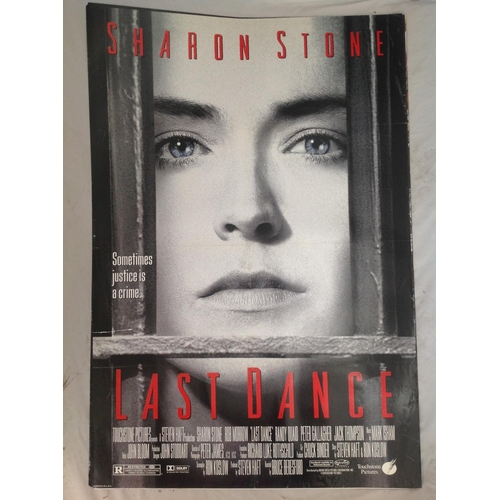 32 - Last Dance 1996 movie poster. Starring Sharon Stone. Approx 30x40