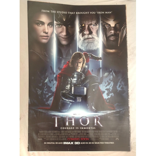 34 - Thor 2011 movie poster. Starred Chris Hemsworth Natalie Portman and Anthony Hopkins. Double sided pr...