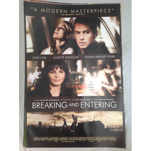 36 - Breaking and Entering 2006 movie poster. Starred Jude Law. Double sided printing suitable for lightb...