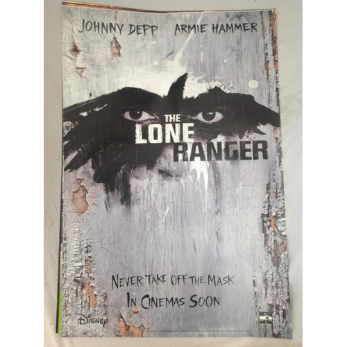 37 - The Lone Ranger 2013 movie poster. Starred Johnny Depp. Double sided printing suitable for lightbox ...