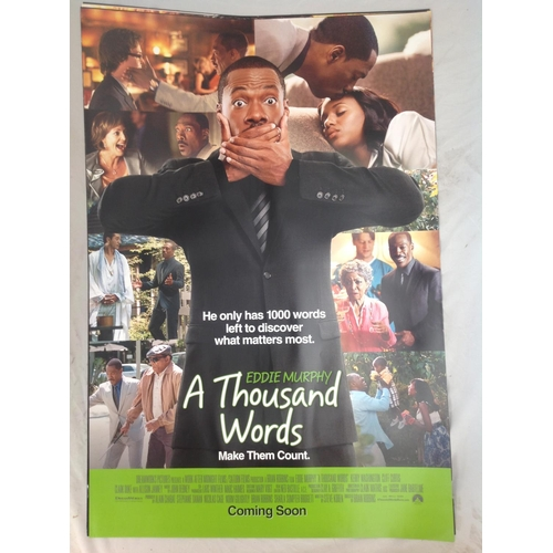 39 - A Thousand Words 2012 movie poster. Starred Eddie Murphy. Double sided printing suitable for lightbo...