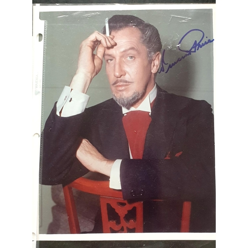 42 - Vincent Price autographed photo. This is Vincent as The Devil from the 1957 film The Story of Mankin...