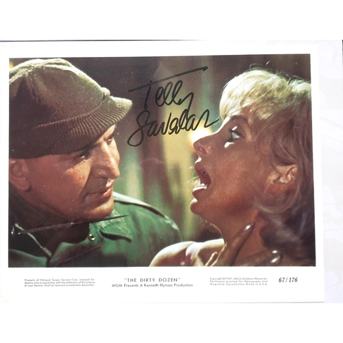 45 - Signed Telly Savalas Lobby Card from The Dirty Dozen 1968. 10x8