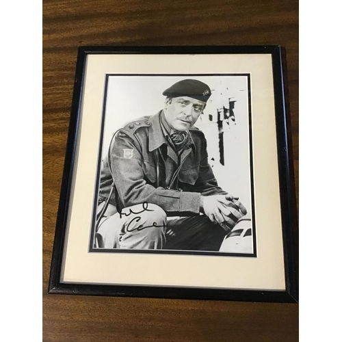 49 - Michael Caine Autographed framed photograph from