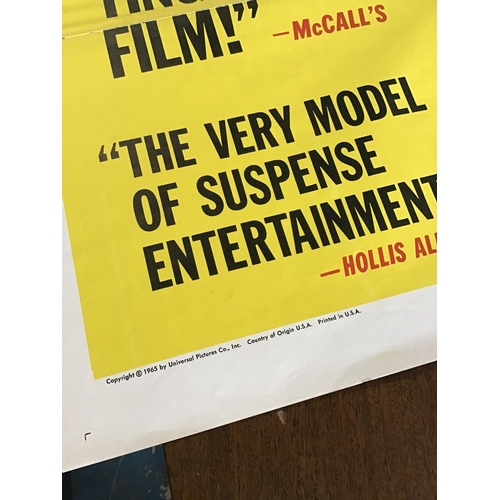 50 - Original Ipcress File Fold Out Poster 41x27