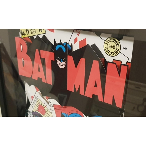 6 - Batman and Robin : Two Against the Joker Die-Cut Limited Edition Lithograph. This is a Limited Die C...