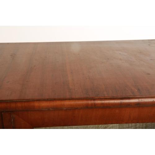 3 - An Art Deco walnut veneered twin door display cabinet raised on shaped bracket feet; 88cm wide