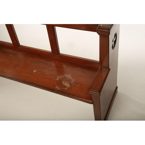 5 - A pair of late 19th / early 20th century Gothic Revival Church benches / pews raised on pierced tres...