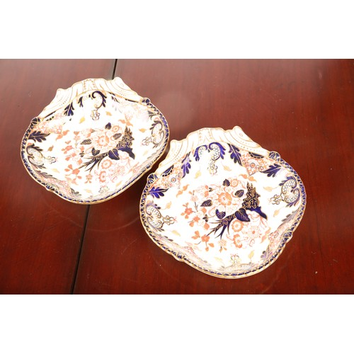 59 - A late 19th / early 20th century Royal Crown Derby porcelain part dessert service; decorated in the ...