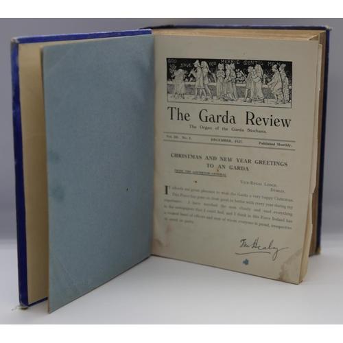 15 - The Garda Review; The Organ of the Garda Siochana; Volume III, No. 1; 1927 - 1928; blue cloth and bo...