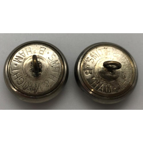28 - A pair of Royal Ulster Constabulary  tunic buttons; 20mm diameter; manufactured by Smith & Wright, B...