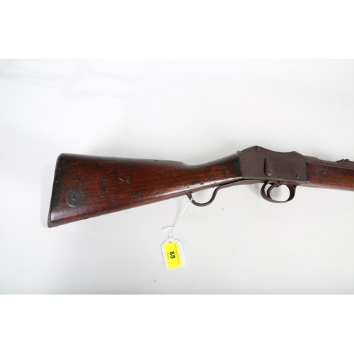 59 - A Royal Irish Constabulary Martini Henri Rifle; stamped RIC 5284; 93cm long