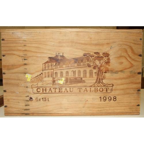 9 - Chateau Talbot, St Julian 1998, 1.5L, owc, six bottles, (6).
