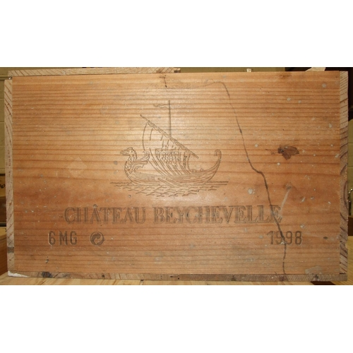 8 - Chateau Beychevelle, 1998 1500ml 12.5%, owc (open), six magnums, (6).