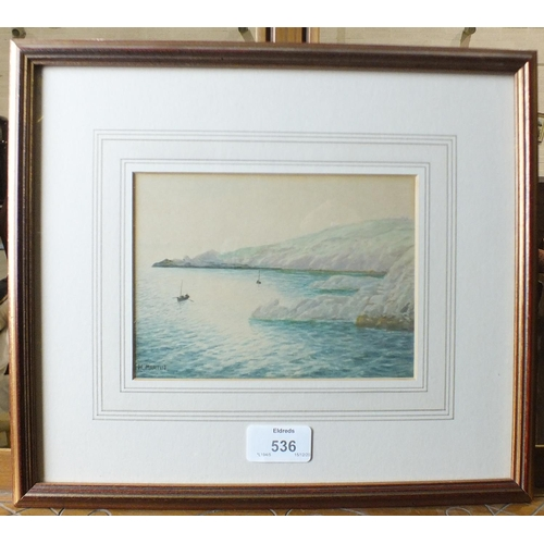 536 - Henry Martin (1835-1908) LANDS END Signed watercolour, titled verso, 12 x 16.5cm.
