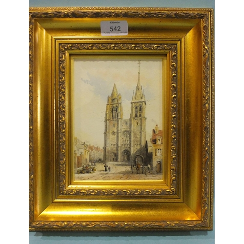 542 - Francis P Barraud (1824-1901) ST NICHOLAS, BLAIS Signed and titled watercolour, 18 x 13cm.