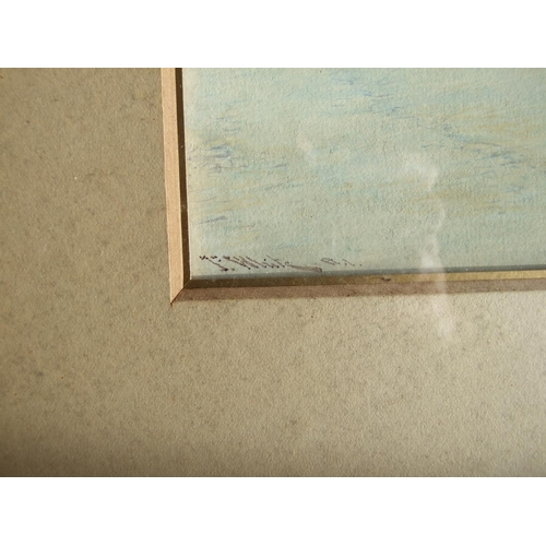 555 - John White RI (1851-1933) HOME FROM SEA, POLPERRO Signed watercolour, titled on back board, 36 x 25c...