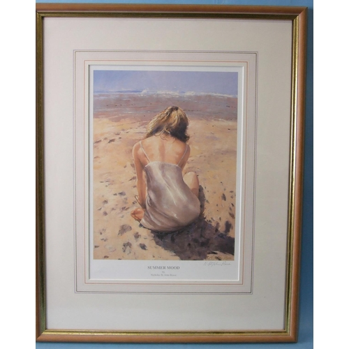 1 - After Nicholas St John Rosse, 'Young girl sitting on the beach', a signed limited-edition print numb...