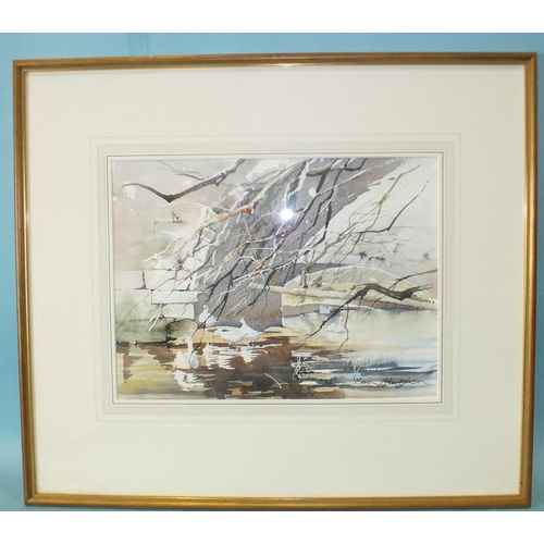 22 - Marion Harbinson (20th century) RIVER DART, TOTNES Signed watercolour, 33 x 46.5cm, titled in pencil...