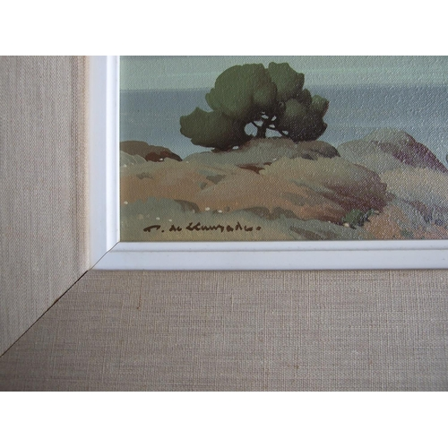 62 - Pierre de Clausade (French, 1910-1976) TRANQUILITY Oil on canvas, signed and titled on label, dated ...