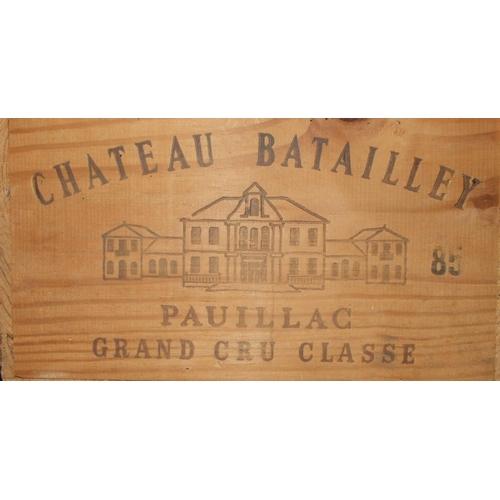 1 - Chateau Batailley Pauillac Grand Cru Classé 1985, twelve bottles, in original wooden crate, (12)....