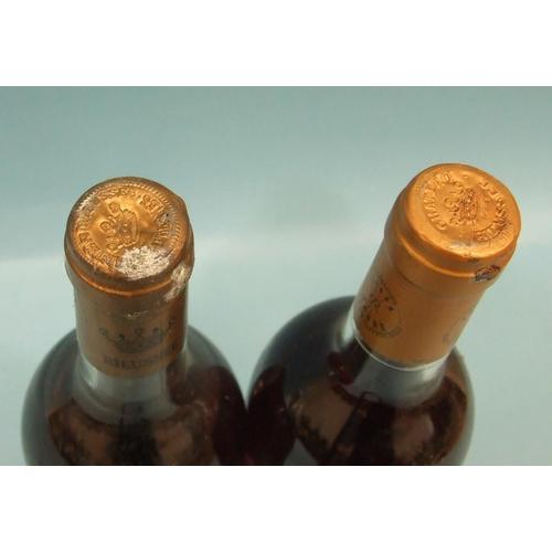 22 - Rieussec Sauternes Chateau 1st Grand Cru Classé 1988, 1975, one bottle, (high-shoulder), 1983, one b...