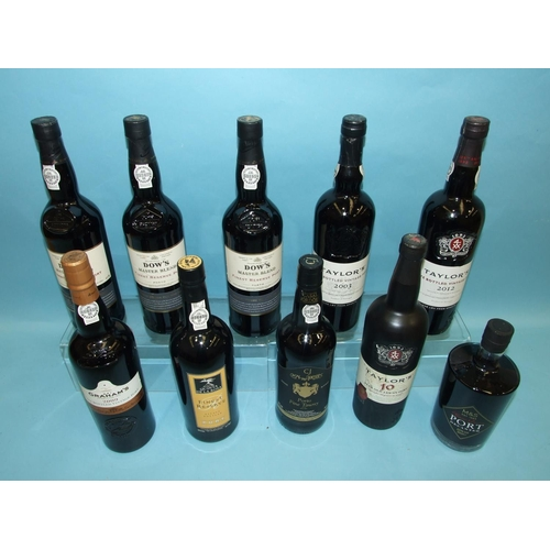 33 - A collection of LBV Port: Dows Master Blend, three bottles, Taylors 2012, one bottle, 2003, one bott...