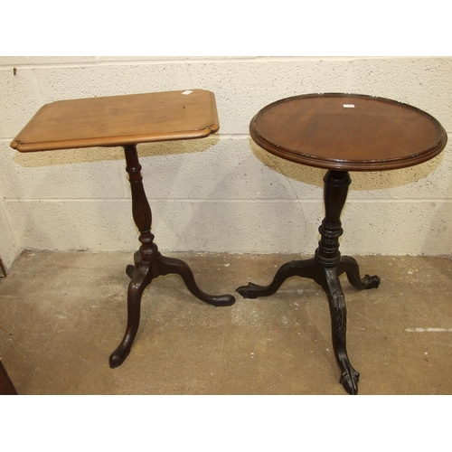 55 - A late-19th century mahogany circular-top occasional table, on turned column and tripod support, 44c...