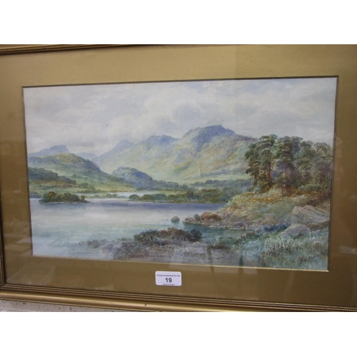 19 - H M Krause (early-20th century) LOCH FIONN GAIRLOCH Signed and titled watercolour, 25.5 x 43.5cm and...