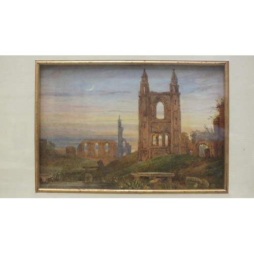 20 - 19th century English School ST ANDREWS CATHEDRAL, SCOTLAND Watercolour, 11 x 16cm, signed beneath th...