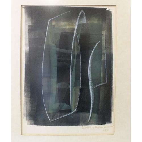 28 - Marion Hauzeur Dumont MUSIQUE D'ARGENT Signed and indistinctly-dated 1971, 25 x 18cm....