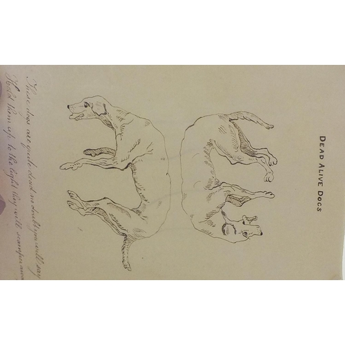 30 - W Parkfield (19th century), five pages from a sketchbook, various subjects, 20 x 30cm approximately,...