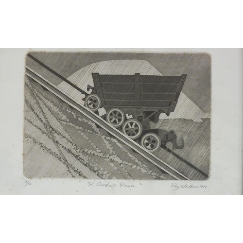 58 - Roy Walker (1936-2001) 'St Austell Rain', a limited-edition signed etching, dated 1977, 9/60, 32 x 4...