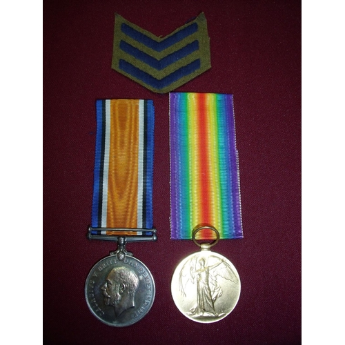 1 - WWI pair of medals awarded to