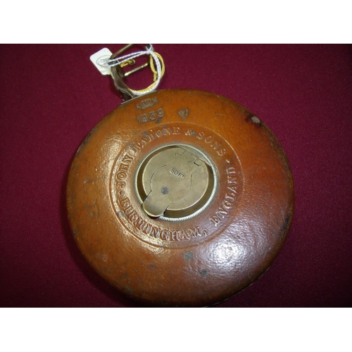 9 - Air Ministry 1939 leather cased 50ft tape measure by John Rabone & Sons Birmingham England the leath...
