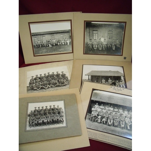 16 - Collection of military related photographs including officers of the York and Lancaster Regiments, o...