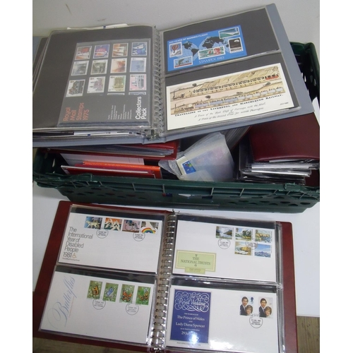 54 - Large collection of FDC stamp albums etc in one box...